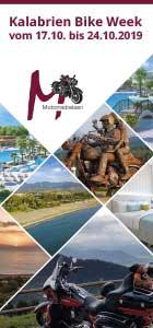 Flyer für die Kalabrienreise von M-Motorradreisen