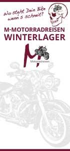 Winterlagerflyer von M-Motorradreisen