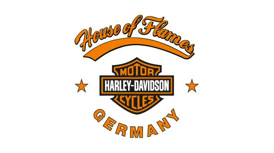 Logo des Harleyhändlers House of Flames Germany