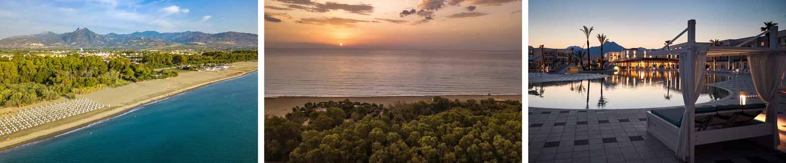 Hotelanlage und Meerblick Aldiana Calabria bei der Kalabrien Bikeweek mit M-Motorradreisen